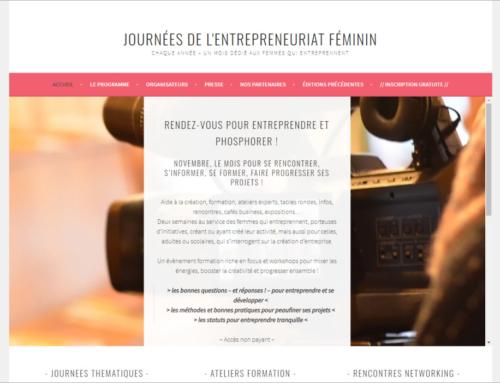 Journées de l'entreprenariat féminin, du lundi 16 au vendredi 30 novembre 2020